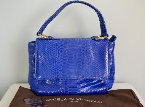 Bolsa Phyton Angela de Verbeno Azul Klein - 1